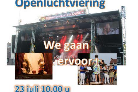 Openluchtviering 23 juli 'We gaan ervoor!'